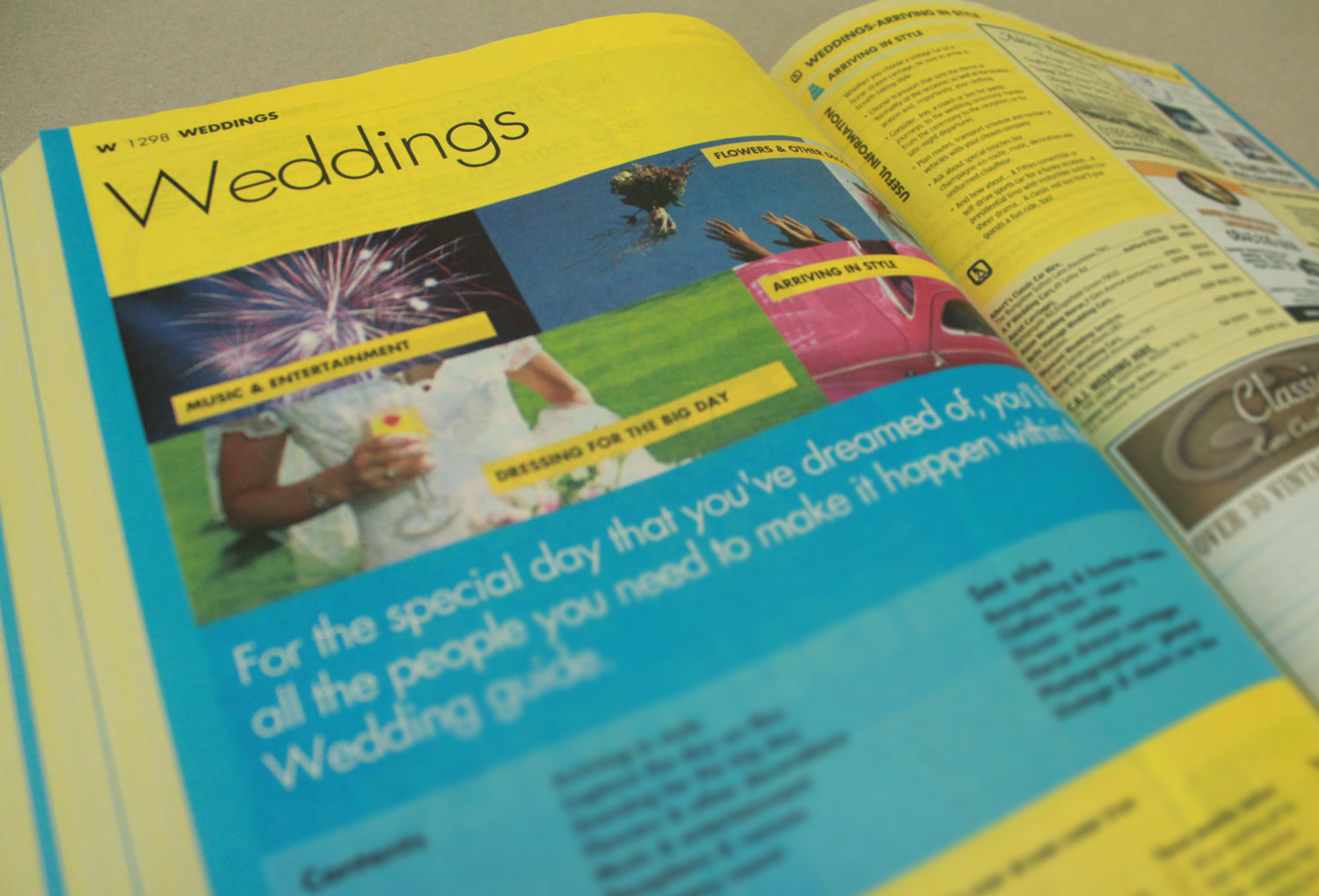 Dinnis Design project - Yellow Pages redesign